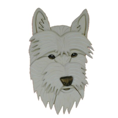 West Highland Terrier Intarsia