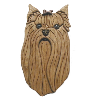 Yorkshire Terrier Intarsia