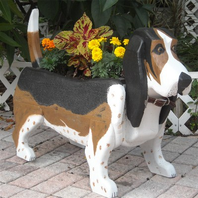 Basset Hound Planter Box
