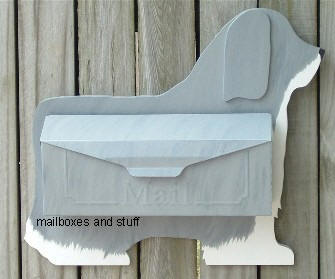Bearded Collie wall mount mailbox