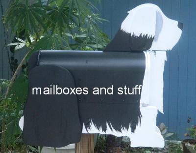 Bearded Collie Mailbox