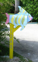 custom painted Tropical Fish mailbox