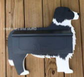 Border Collie Wall mounted mailbox
