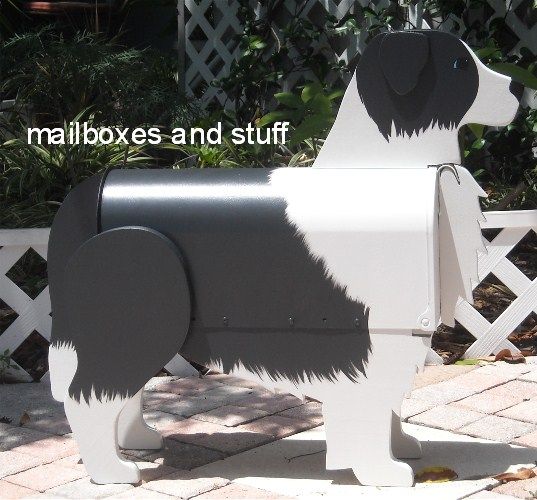 Border Collie Mailbox, dog mailboxes