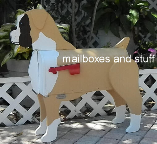 Boxer Mailbox, natural ear Boxer dog mailbox