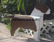 custom painted Bull Terrier mailbox 3