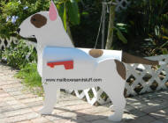 custom painted Bull Terrier mailbox 2