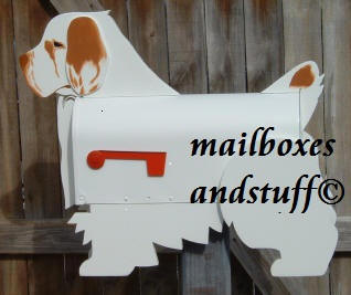 Clumber Spanile Mailbox