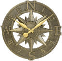 Compass Rose Clock