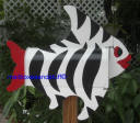 Black and White StripeTropical  Fish Mailbox ©