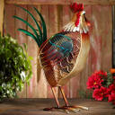 Colorful Country Rooster Fan