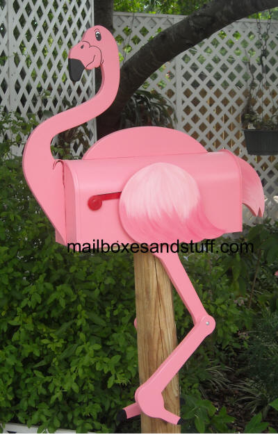 Flamingo Mailbox Mailboxes and Stuff