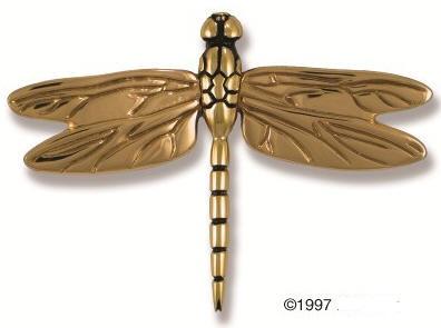 ... Dragonfly Brass Door Knocker