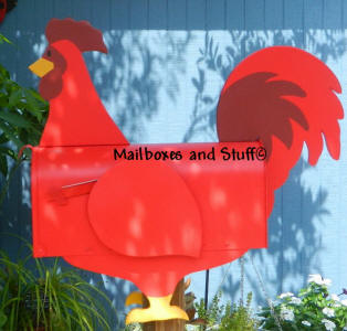 Red Rooster mailbox