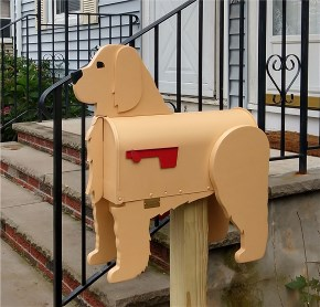 Buff Cockapoo Mailbox