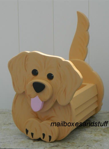 Golden Retriever Planter Box