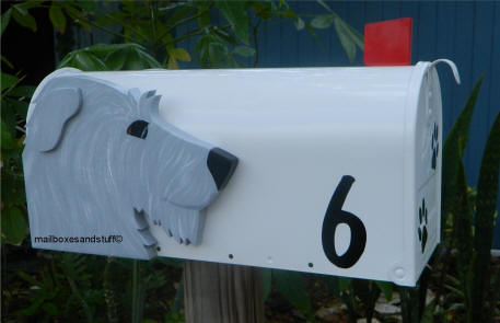 Irish Wolfhound Head on Mailbox