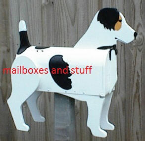 custom painted Jack Russell Terrier