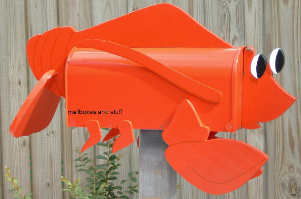 Lobster Mailbox , fun whimsical . Perfect for Lobster Lovers