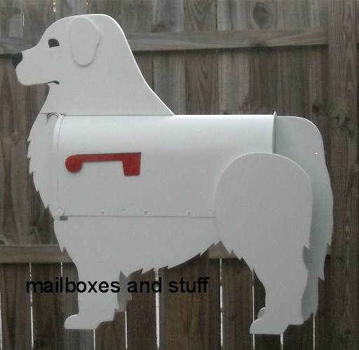 Great White Pyrenees mailbox