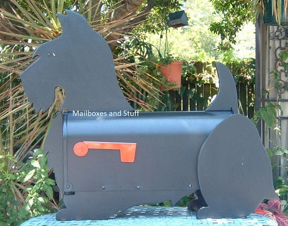 Scottish Terrier Mailbox, dog mailboxes