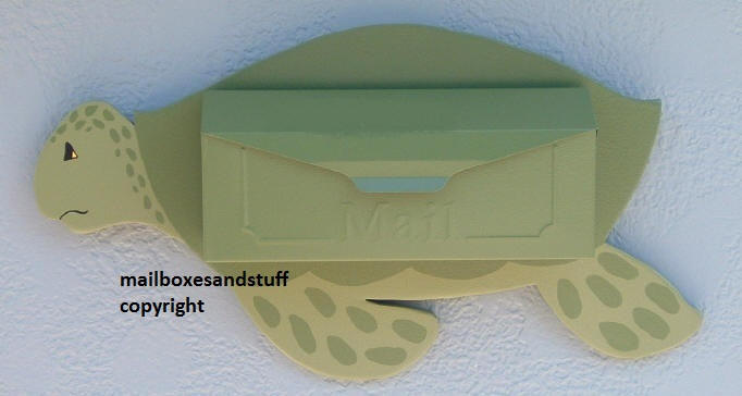Wall mount Sea Turtle Mailbox