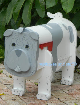 custom painted Shar Pei