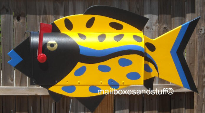 Speckled Fish Mailbox © Tropical Fish Mailbox