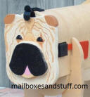 Shar pei , tan black muzzle