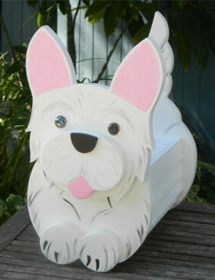 West Highland Planter box , Westie planter . can be free standing or hanging