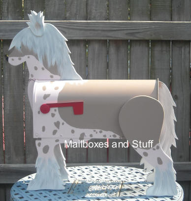 Chinese Crested Dog Mailbox