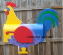 Colorful Rooster Mailbox, farm animal mailboxes