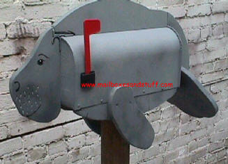 Novelty Manatee Mailbox, unique novelty mailboxes, tropical style mailboxes, Florida mailboxes