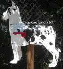 Custom painted Harlequin  Great Dane