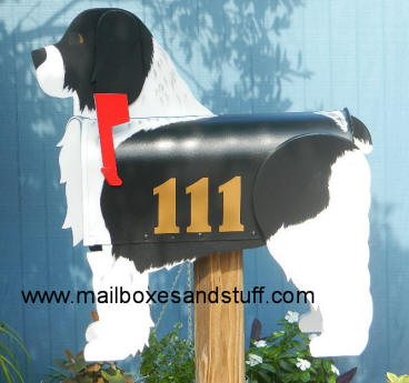 custom painted Cockapoo mailbox showing personalization option