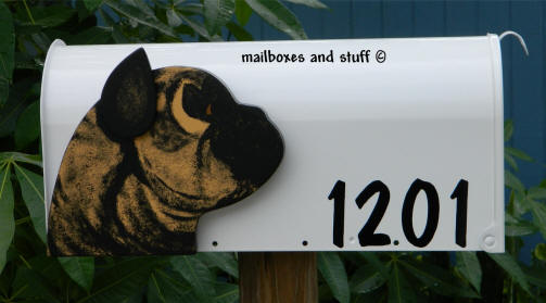 custom dog head mailbox