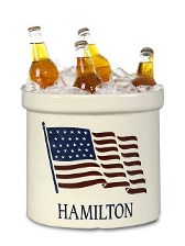 American Heritage American Flag personalized crock