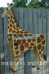 Giraffe mailbox ... animal mailboxes