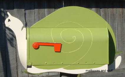 apple green SNAIL mailbox