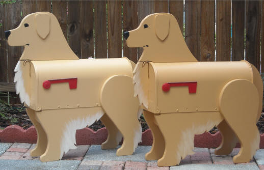 Golden Retriever mailboxes