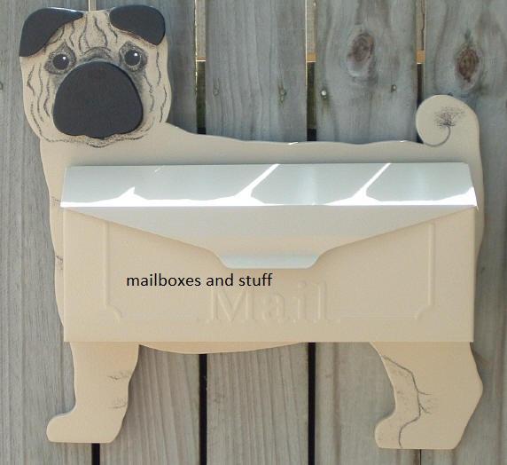 pug wall mount mailbox