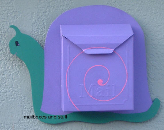 wall mount locking snail mailbox