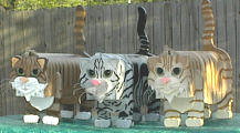 Adorable Cat Mailboxes: offering a short hair cat mailbox, fluffy cat mailbox,  Bengal cat mailbox,  Siamese cat mailbox and Persian Cat Mailbox