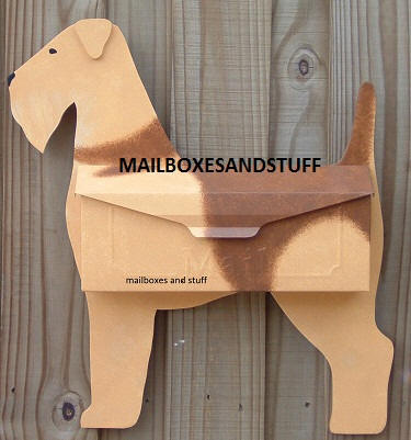Airedale Terrier Dog Mailbox By Mailboxes And Stuff
