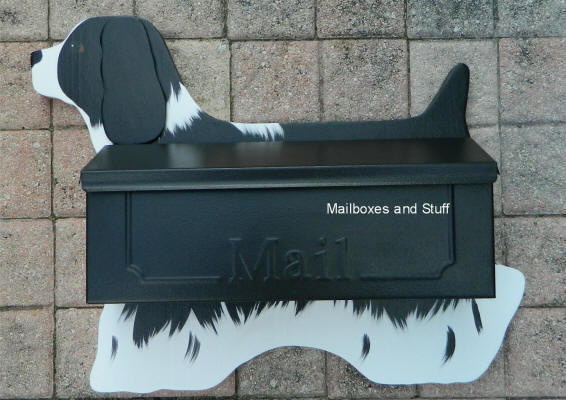 Cocker Spaniel wall mount mailbox