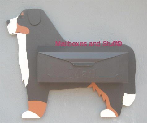 Bernese Mountain Dog Wall mount mailbox