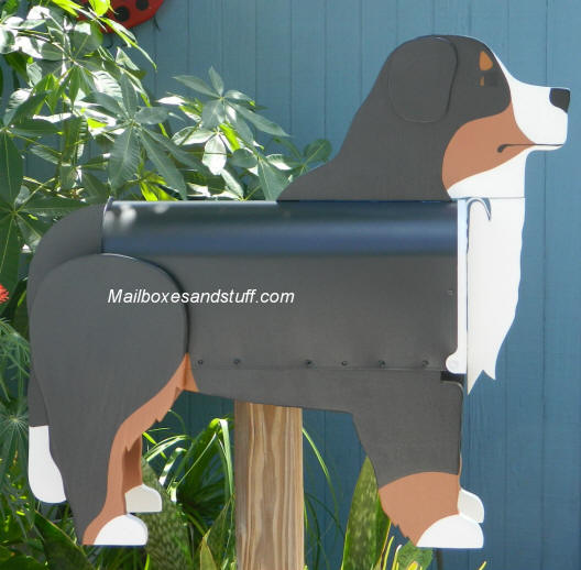 Bernese Mountain Dog Mailbox