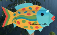 """Clearwater""Speckled Tropical Fish Mailbox"