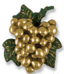 Grape Cluster Brass and Green patina Door Knocker
