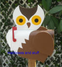 Owl Mailbox .. whimsicl OWL mailbox for anyone who loves owls ! Graet gift idea